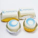 Asperity Mini Logo Cakes